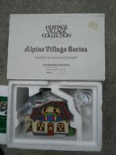 Dept 56 Alpine Village Bakery & And Chocolate Shop Nib