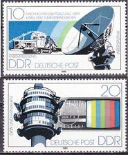 DDR Mi.-Nr. 2490-2491 postfrisch Nachrichtenübertragungsmittel d. Deutschen Post