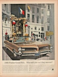 1966 Pontiac Grand Prix - Vintage Automobile Ad