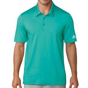 Adidas Golf Men's Climalite Jacquard Solid Polo Golf Shirt NEW