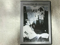SABOTAGE DVD  ALFRED HITCHCOCK SYLVIA SIDNEY OSCAR HOMOLKA DESMOND TESTER 1936
