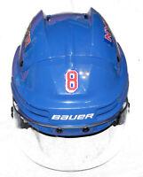 KEVIN KLEIN GAME USED NY RANGERS BLUE #8 HELMET w/NHL 100th ANNIVERSARY STEINER
