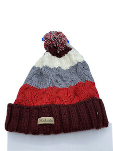 Columbia Carson Pass Beanie Fleece Lined Pom Hat Unisex One Size New
