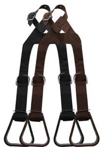 Showman BUDDY STIRRUPS for Western Saddle Adjustable Heavy Duty Nylon for KIDS