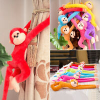 Colorful Long Arm Monkey Hanging Soft Plush Doll Stuffed Animal Kids Baby Toy Y1