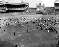 1957 New York Giants POLO GROUNDS Glossy 8x10 Photo Last Game Print Field Poster