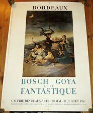 affiche litho 1955 L/'age d/'or espagnol Le Caravage Bordeaux Mourlot Imp Paris