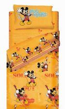 Set Copripiumino Lenzuola Topolino Mickey Star Arancio Una Piazza Disney Caleffi