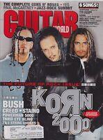 JAN 2000 GUITAR WORLD vintage music magazine KORN