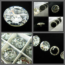 Genuine Swarovski crystal buttons Decorative glass sewing trimming bling trim