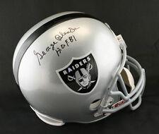 George Blanda SIGNED Oakland Raiders F/S Helmet +HOF 81 PSA/DNA AUTOGRAPHED