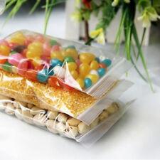 100pcs Resealable Bags Plastic Zip Lock Seal Poly Clear Small Reclosable Baggies