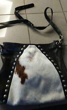 maurizio taiuti harness cow fur cowfur messenger purse bag