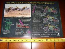1977 SUZUKI RM125 RM250 RM370 - ORIGINAL 2 PAGE AD