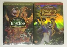 The Jungle Book & The Jungle Book 2, Like New Disney DVDs movies