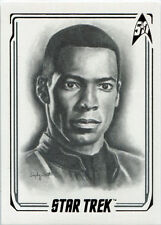 Star Trek 50th Anniversary ArtiFEX Emily Tester Chase Card A48 Ensign Mayweather