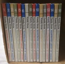 Vintage 1972 FAMILY CIRCLE ILLUSTRATED LIBRARY OF COOKING 16 Volume Complete SET