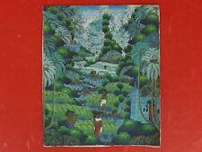 Belle Peinture sur Toile, la Récolte du Riz, signée DANYS. Bali