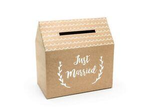Just Married Kraft Card Box