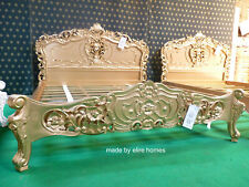 BESPOKE Sophisticated Gold Mahogany french furniture Rococo oriental baroque bed