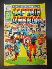Marvel Comics Captain America # 1 King Size 1970 Vintage Comic Book