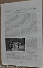 1912 magazine article about AUSTRIA-HUNGARY, people, history, photos, pre-WWI