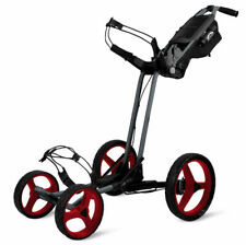 New Sun Mountain Pathfinder 4 Push-Pull Golf Cart Bag Carrier Magnetic Gray Red