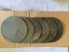 (6)pcs. 1/4 Inch X 5 Inch Round/Disc Steel Plates A36 Grade
