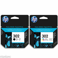 HP 302 BLACK AND COLOUR INK CARTRIDGE ORIGINAL FOR OFFICEJET 3830 4650 ENVY 4520