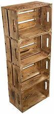 4 x FLAMBOYANT 2 Brett boîtes de pommes cageot à fruits en bois à Caisse à vin