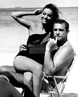"SEAN CONNERY AND CLAUDINE AUGER ON THE SET OF ""THUNDERBALL""  8X10 PHOTO (OP-371)"