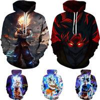 Dragon Ball Z Saiyan Goku Men Unisex Anime Pullover Hooded Hoodie Sweatshirt