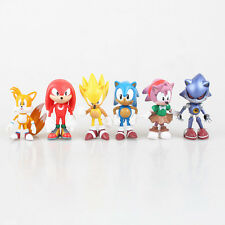 6pcs Cute Sonic the Hedgehog Action Figures Game Doll Set Kids Boy Girl Toy Gift
