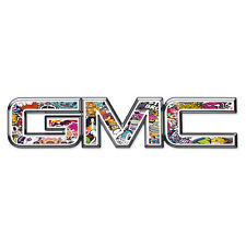07-17 GMC Sierra Yukon STICKER BOMB Front Grill Emblem Overlay Decal