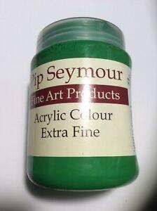 Pip Seymour Permanent Green Medium Acrylic Paint 500ML. New Unused