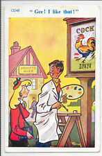 GB SEASIDE HUMOUR P.P.C. c1950's PERFECT MINT BY TROW.