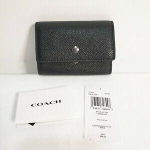 NWT COACH F73992 Black Crossgrain Leather 5 Ring Key Case