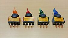 4 PACK - Rectangle ON / OFF Illuminated Toggle Switch Lamp SPST (12V DC 20A)