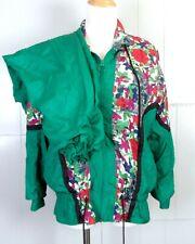 vtg 80s 90s High Intensity Ladies 2 Pc Windbreaker Track Suit Jacket & Pants Ps