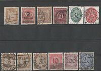 Lot älterer Briefmarken Deutsches Reich ab 1923 gestempelt mit Dienstmarken