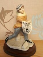 The Welsh Porcelain Company Figurine. The News Paper Seller.