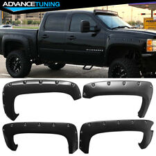 For 07-13 Silverado 1500 Short Bed Pocket Rivet Style Fender Flares PP