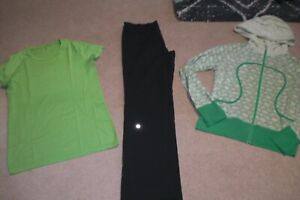 Lot of Lululemon Astro Pants, Lux Hoodie and Run Swiftly Tee sz 10