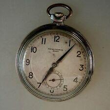 Art Deco Taschenuhr Prima Watch HAKA Chrom um 1930 (42398)