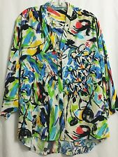 New JAMS WORLD Women's LARGE Cruiser Sports Casual Blouse - CANDY POP Prints