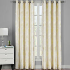 Lafayette Abstract Jacquard Textured Grommet Top Curtain Panels ( PAIR )