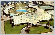 Aerial View of Isle De Capri Hotel & Yacht Club on Miami Beach, Florida Postcard