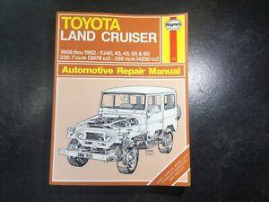 1968-1982 Toyota Land Cruiser Haynes Repair Manual FJ40, FJ43, FJ45, FJ55, FJ60