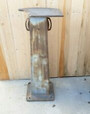 Cast Iron Machine Stand Vise Grinder Industrial Table Base Vintage Repurpose