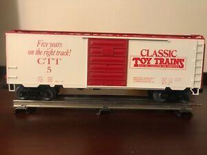 Weaver Ultra Line CTT5, Classic Toy Trains Magazine 5th Anniversary Boxcar, 1992